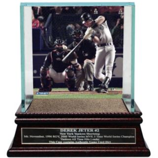 Steiner Sports New York Yankees Derek Jeter Moments 2000 World Series MVP Baseball Case with Authentic Field Dirt