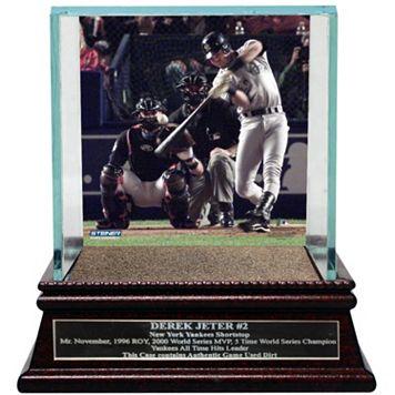 Steiner Sports New York Yankees Derek Jeter Moments 2000 World Series MVP Baseball Case with Authentic Field Dirt