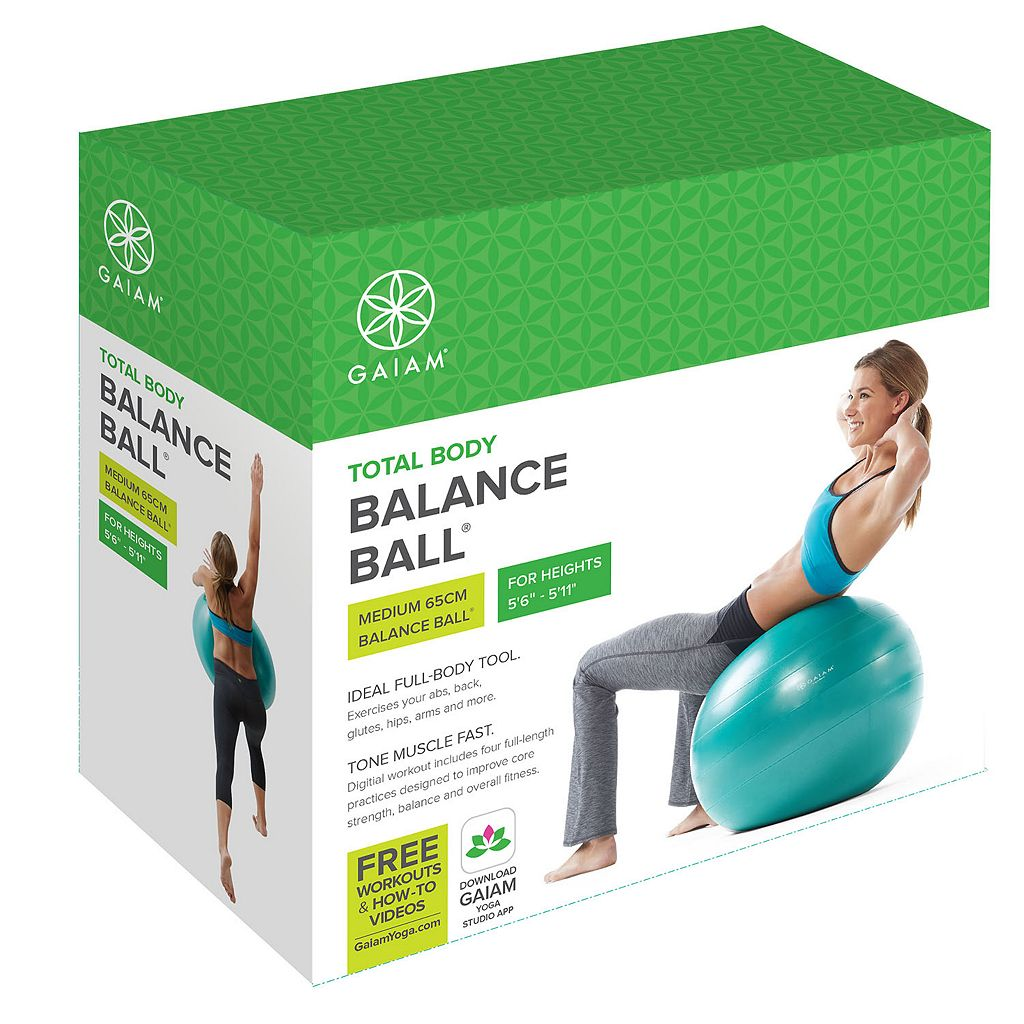 Gaiam 65cm Textured Balance Ball Kit