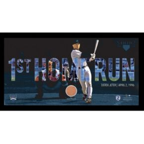 "Steiner Sports New York Yankees Derek Jeter Moments First Career Home Run Framed 10"" x 20"" Photo with Authentic Field Dirt"