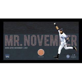 "Steiner Sports New York Yankees Derek Jeter Moments Mr. November Home Run Framed 10"" x 20"" Photo with Authentic Field Dirt"