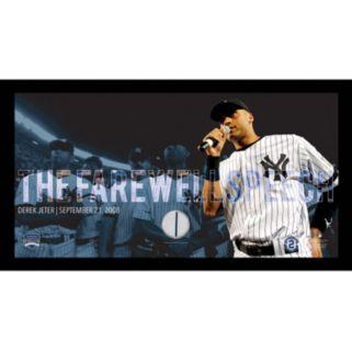 "Steiner Sports New York Yankees Derek Jeter Moments Farewell Speech Framed 10"" x 20"" Photo with Authentic Field Dirt"