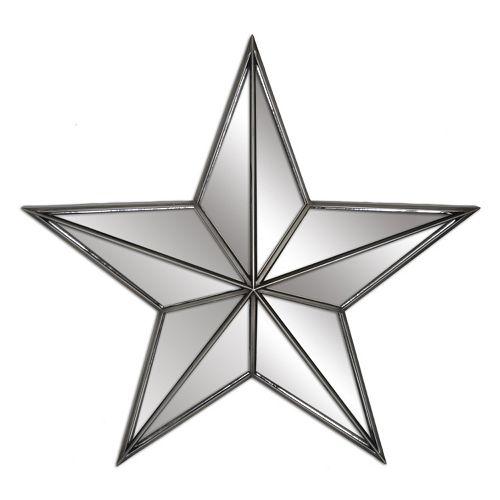 Mirrored Star Wall Decor: Belle Maison Mirrored Star Wall Decor