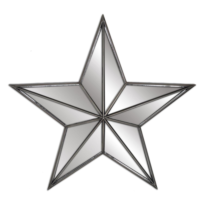 Belle Maison Mirrored Star Wall Decor