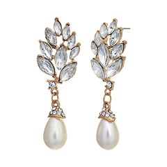 Crystal Allure Marquise Drop Earrings