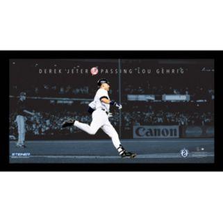 "Steiner Sports New York Yankees Derek Jeter Moments Passing Gehrig Framed 10"" x 20"" Photo"