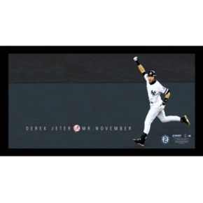 "Steiner Sports New York Yankees Derek Jeter Moments Mr. November Home Run Framed 10"" x 20"" Photo"