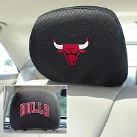 Chicago Bulls 2 pc Head Rest Covers