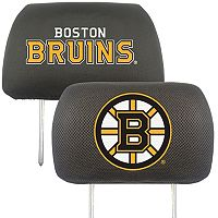 Boston Bruins 2 pc Head Rest Covers