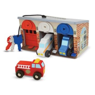 Melissa and Doug Lock and Roll Rescue Garage
