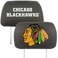 Chicago Blackhawks 2 pc Head Rest Covers