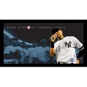 "Steiner Sports New York Yankees Derek Jeter Moments Farewell Speech Framed 10"" x 20"" Photo"
