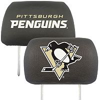 Pittsburgh Penguins 2 pc Head Rest Covers