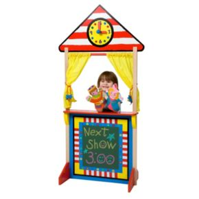 ALEX Toys Floor Standing Puppet Theater and Clock