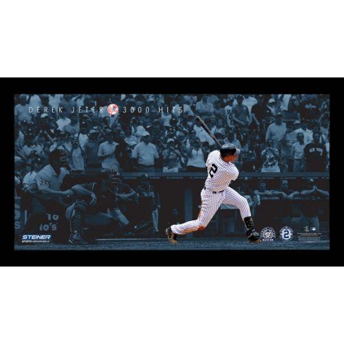 Steiner Sports New York Yankees Derek Jeter Moments 3,000th Career Hit Framed 10″ x 20″ Photo