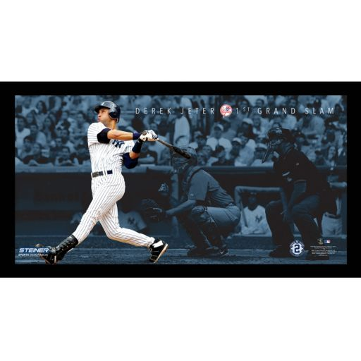 "Steiner Sports New York Yankees Derek Jeter Moments First Career Grand Slam Framed 10"" x 20"" Photo"