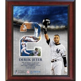 Steiner Sports New York Yankees Derek Jeter Career Highlight 11'' x 14'' Framed Collage