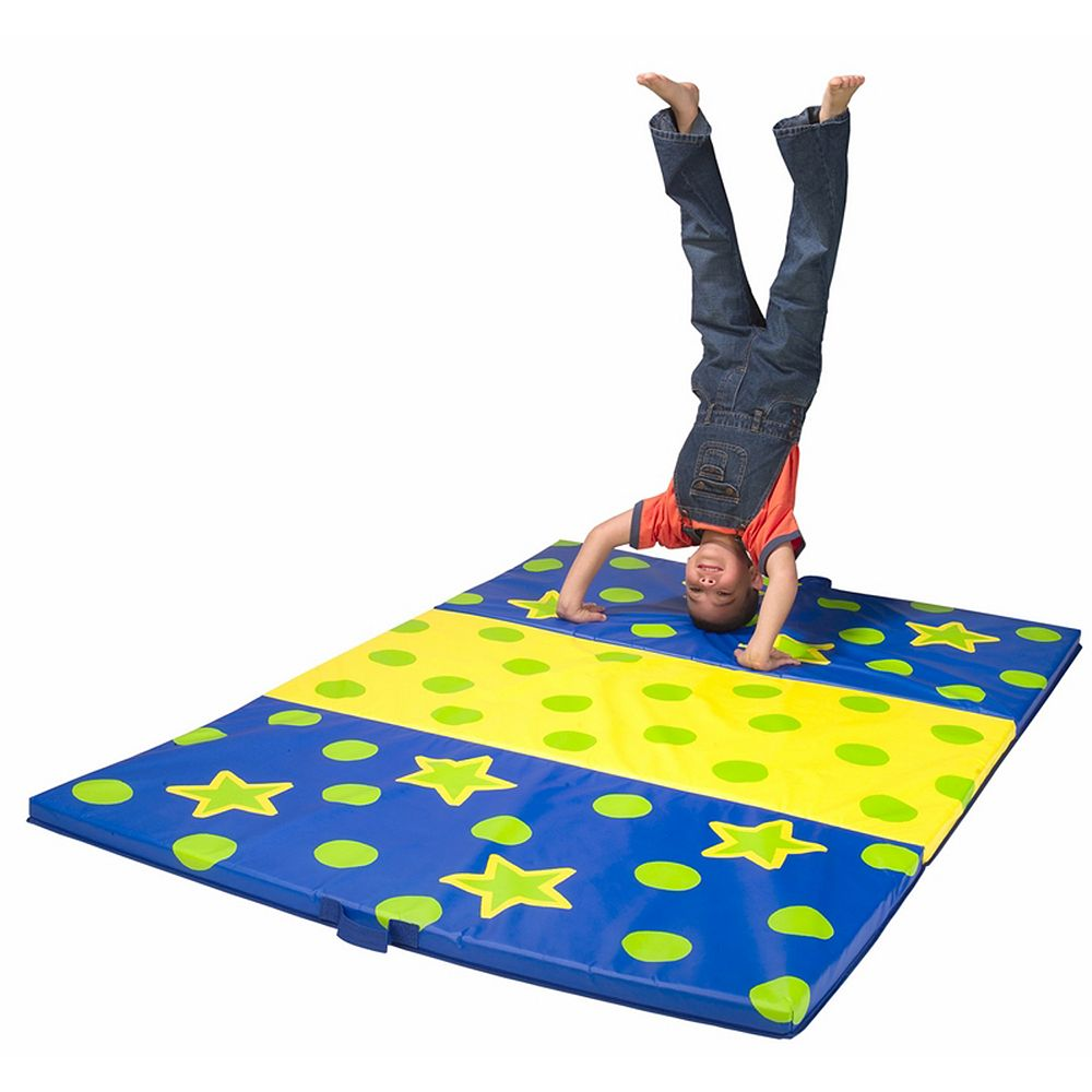 mat folding mats mancino standard cheer blue full x click image royal view to tumbling
