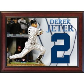 Steiner Sports New York Yankees Derek Jeter Number 2 11'' x 14'' Framed Collage with Cloth Number
