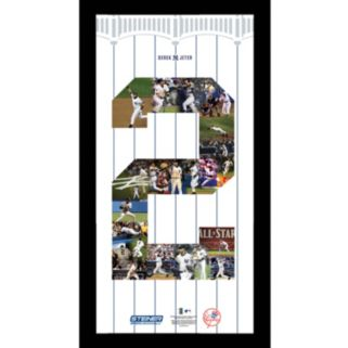 Steiner Sports New York Yankees Derek Jeter Number 2 11'' x 14'' Framed Collage