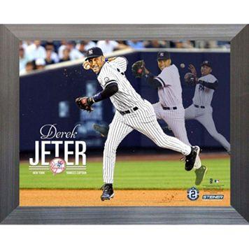 Steiner Sports New York Yankees Derek Jeter Throw Three-Photo 11'' x 14'' Framed Collage