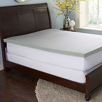The Sharper Image 3-inch Gel Enriched Memory Foam Mattress Topper