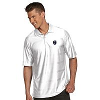 Men's Antigua San Jose Earthquakes Illusion Desert-Dry Xtra-Lite Tonal-Striped Performance Polo
