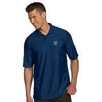 Men's Antigua Sporting Kansas City Illusion Desert-Dry Xtra-Lite Tonal-Striped Performance Polo