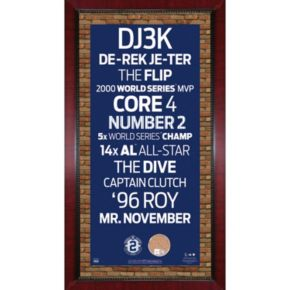 "Steiner Sports New York Yankees Derek Jeter 16"" x 32"" Vintage Subway Sign with Authentic Field Dirt"