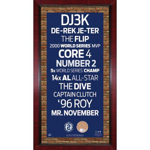 Steiner Sports New York Yankees Derek Jeter 16 x 32 Vintage Subway Sign with Authentic Field Dirt