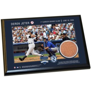 "Steiner Sports New York Yankees Derek Jeter Moments First Career Grand Slam 5"" x 7"" Plaque with Authentic Field Dirt"