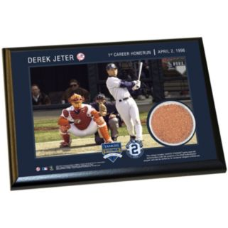 """Steiner Sports New York Yankees Derek Jeter Moments First Career Home Run 5"""" x 7"""" Plaque with Authentic Field Dirt"""