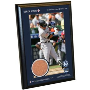 "Steiner Sports New York Yankees Derek Jeter Moments World Baseball Classic Team USA 5"" x 7"" Plaque with Authentic Field Dirt"