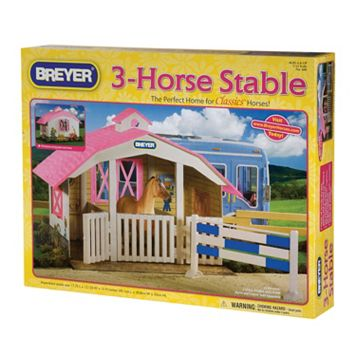 Breyer Classics 3-Horse Stable Play Set