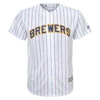 Boys 8-20 Majestic Milwaukee Brewers Replica Alternate MLB Jersey