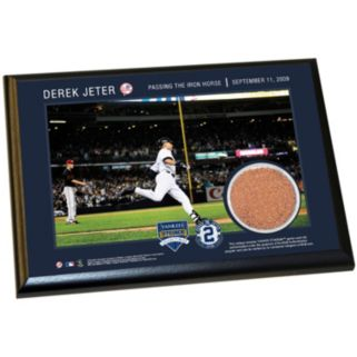 """Steiner Sports New York Yankees Derek Jeter Moments Passing Gehrig 5"""" x 7"""" Plaque with Authentic Field Dirt"""