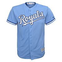 Majestic Kansas City Royals Replica MLB Jersey - Boys 8-20