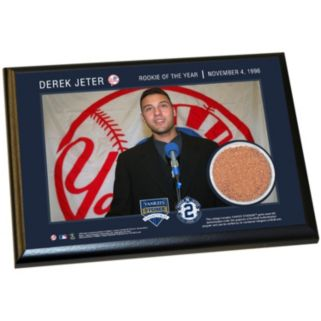 """Steiner Sports New York Yankees Derek Jeter Moments 1996 Rookie of the Year 5"""" x 7"""" Plaque with Authentic Field Dirt"""