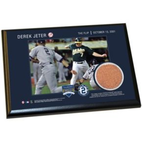 "Steiner Sports New York Yankees Derek Jeter Moments The Flip 5"" x 7"" Plaque with Authentic Field Dirt"