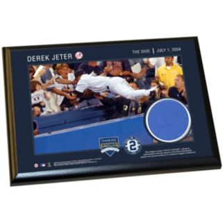 """Steiner Sports New York Yankees Derek Jeter Moments The Dive 5"""" x 7"""" Plaque with Authentic Wall Panel Swatch"""
