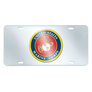 United States Marine Corps Mirror-Style License Plate