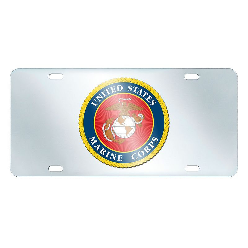 Fanmats Sports Team Logo Marines license plate inlaid 6