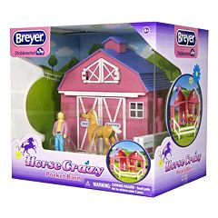 Breyer Stablemates Horse Crazy Pocket Barn Set