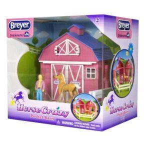 Breyer Stablemates Horse Crazy Pocket Barn Set