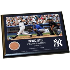 """Steiner Sports New York Yankees Derek Jeter Moments First Career Grand Slam 8"""" x 10"""" Plaque with Authentic Field Dirt"""