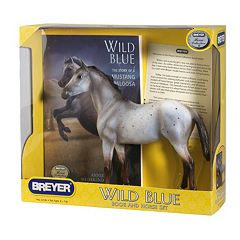 Breyer Wild Blue Horse Figurine & Book Set