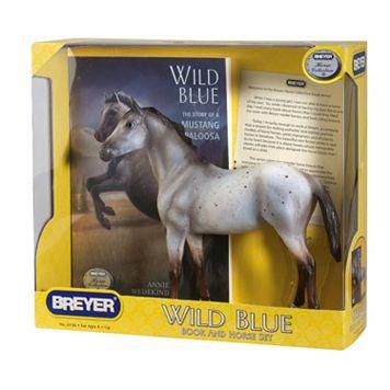 Breyer Wild Blue Horse Figurine & Book Set