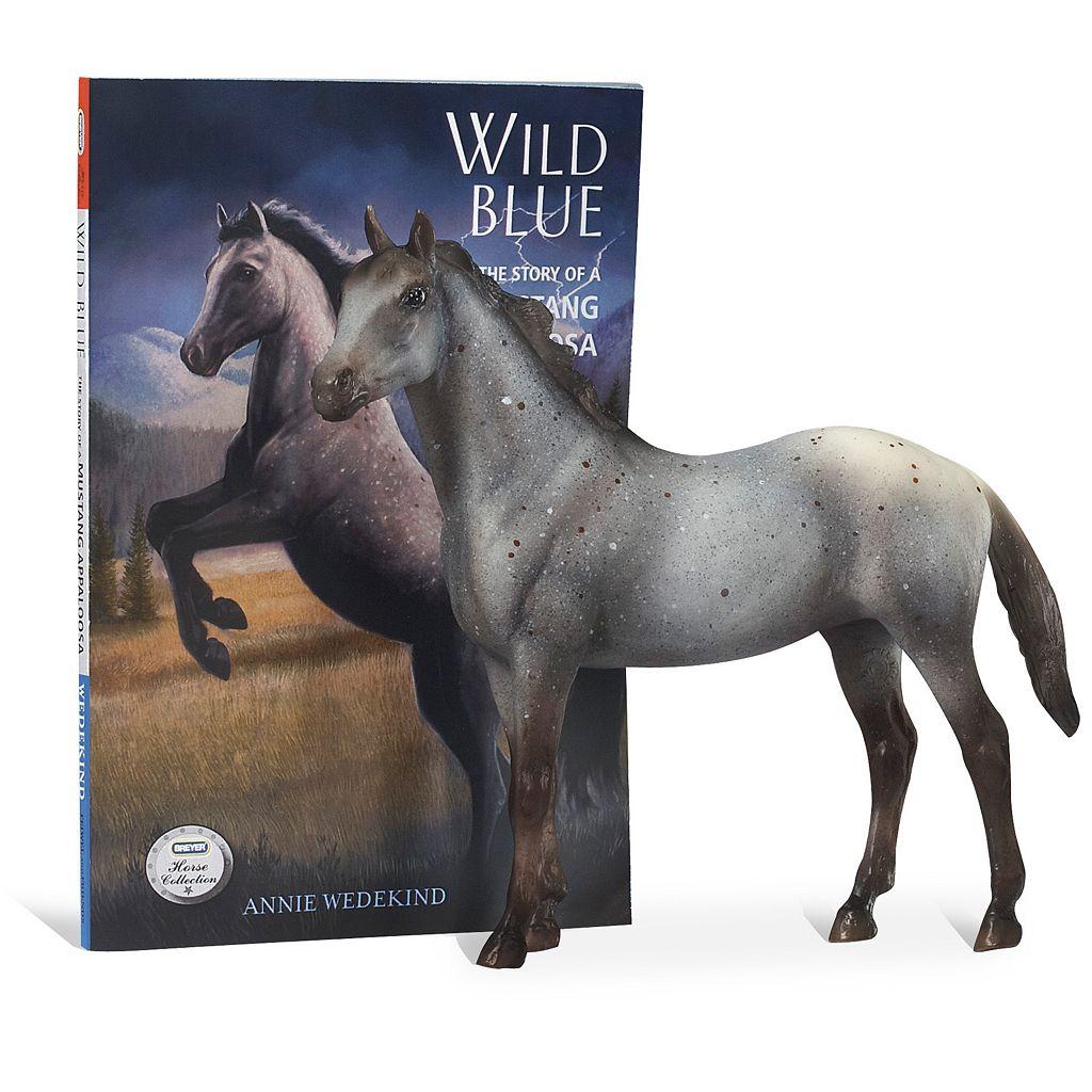 Breyer Wild Blue Horse Figurine and Book Set
