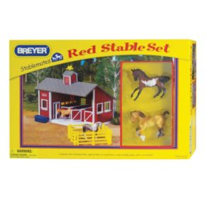 Breyer Stablemates Red Stable Play Set