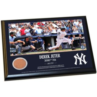 "Steiner Sports New York Yankees Derek Jeter Moments 3,000th Career Hit 8"" x 10"" Plaque with Authentic Field Dirt"
